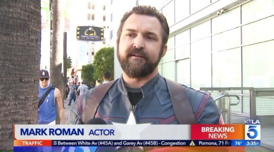 KTLA 5 Stan Lee Star